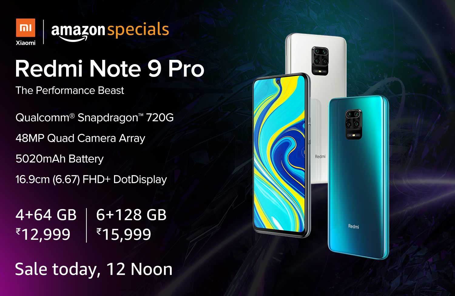 Redmi Note 9 Pro to Go on Sale in India Today via Amazon, Mi.com: Price in India, Offers, Specifications