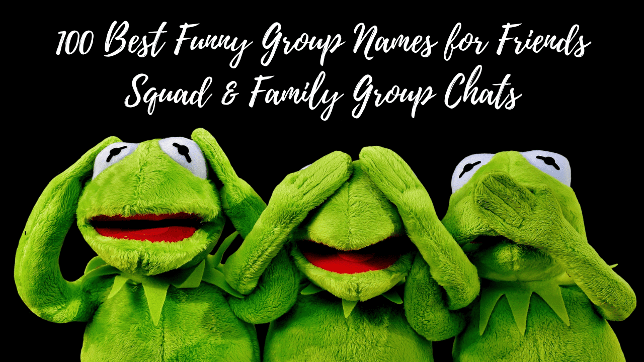 Funny Group Chat Names for friends & family