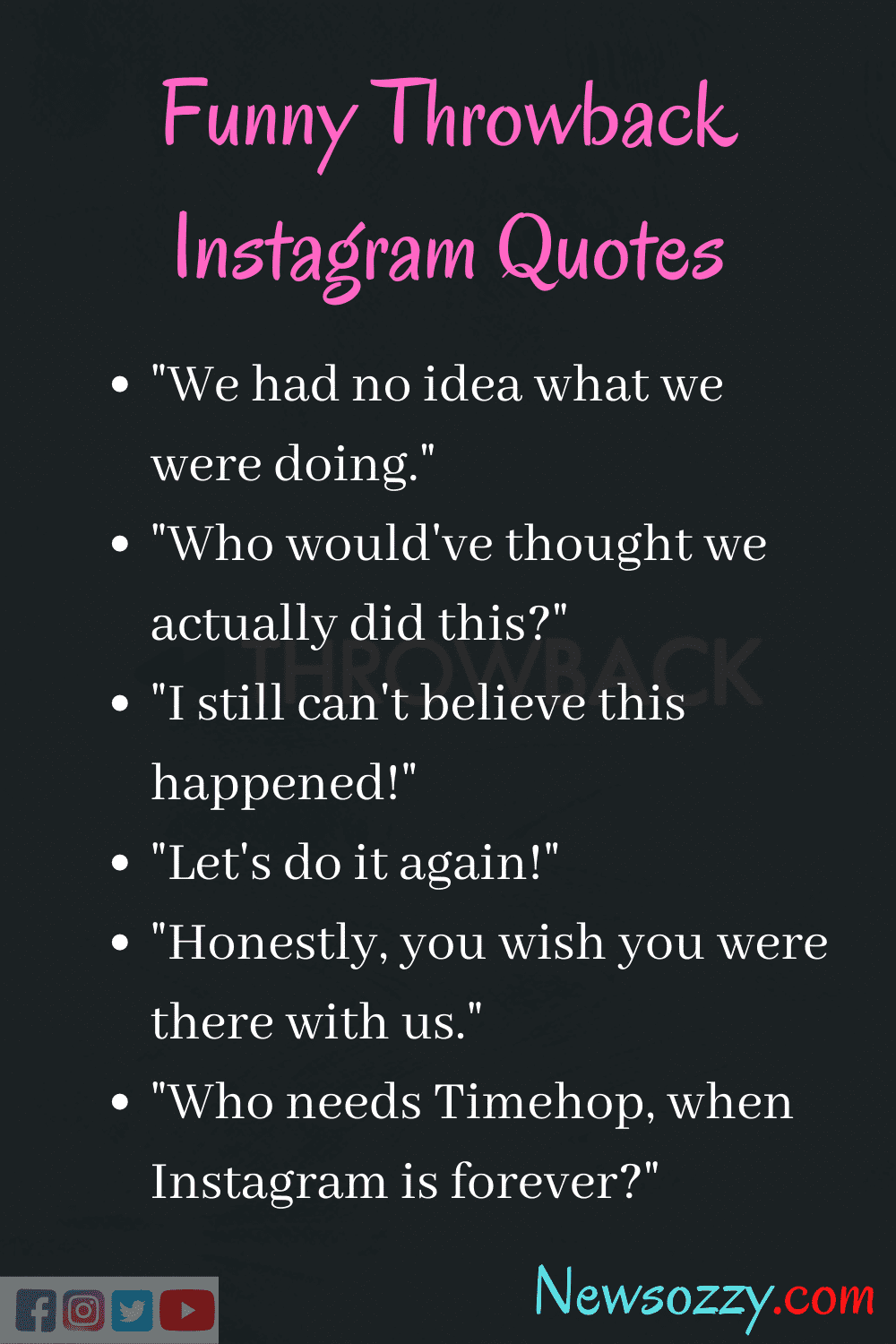 funny captions for throwback memories