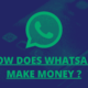 how does whatsapp make money