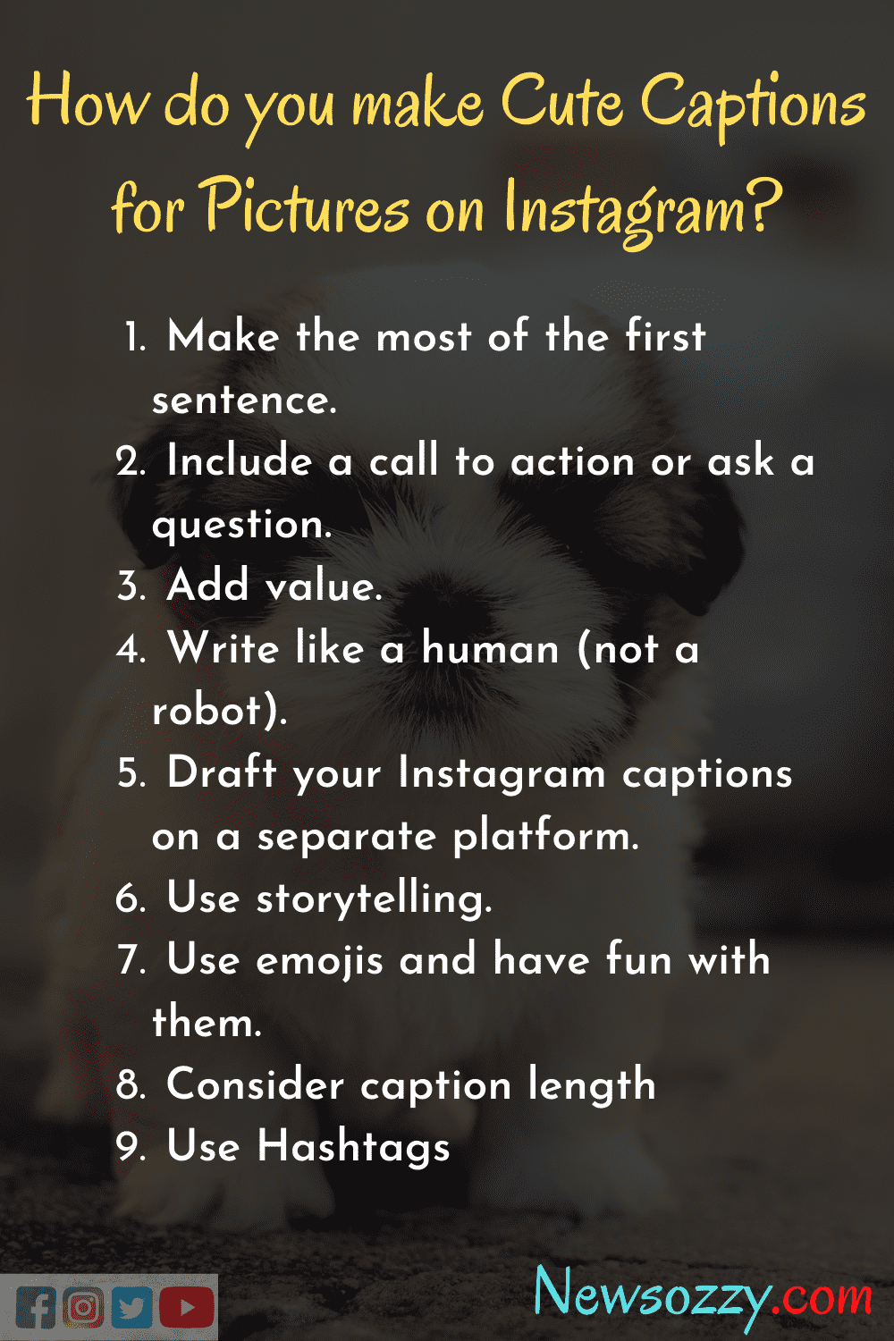 how to write cute captions for pictures on instagram