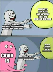 meme for halloween 2020