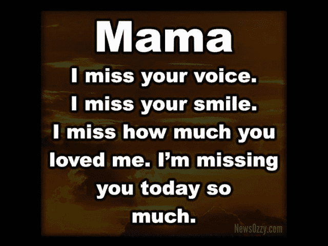 Missing My Mom Captions from Daughter & Son
