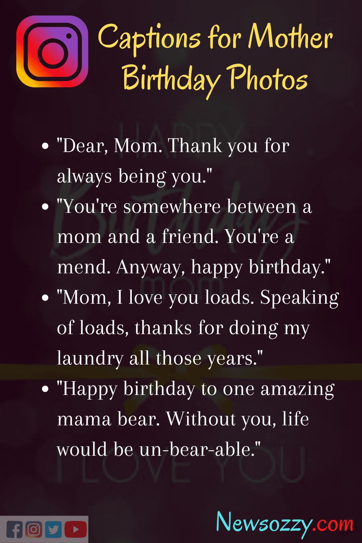 Mom birthday captions for Instagram posts