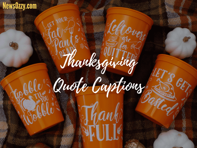 Thanksgiving quote captions