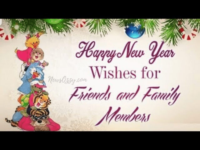happy new year best wishes for friends and family members