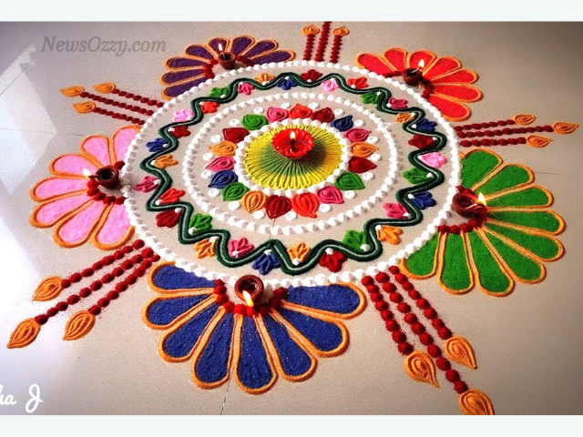 images for colorful rangoli patterns of new year 2021