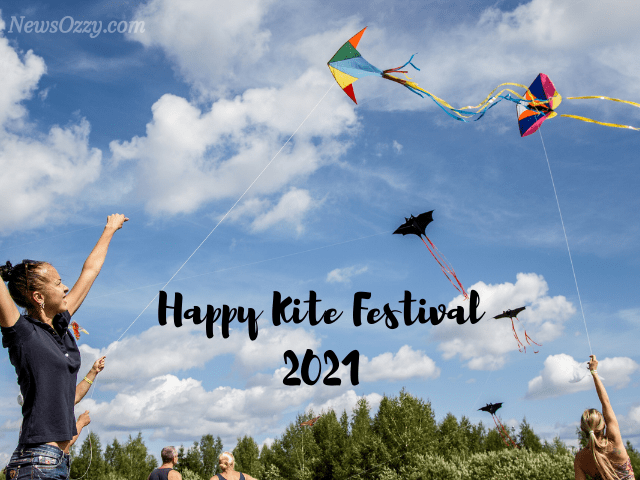 happy kite festival images 2021