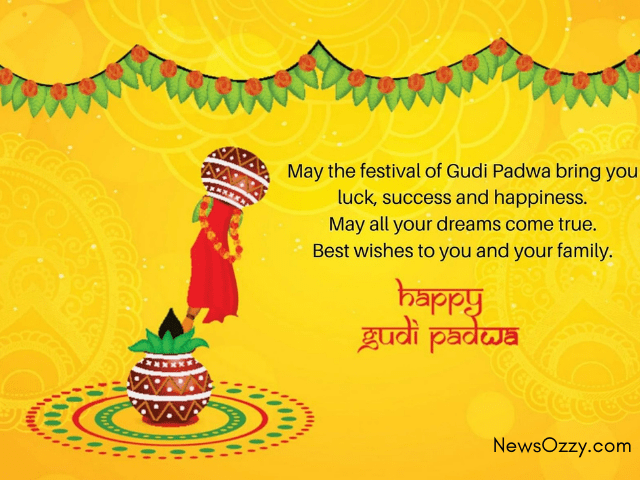 Gudi padwa festival wishes images in english