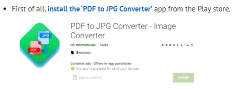 Convert your DOC to JPG – Android
