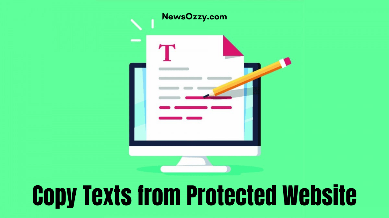 Copy Texts from Protected Website