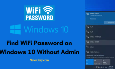 Find WiFi Password on Windows 10 Without Admin