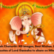 Happy Ganesh Chaturthi HD Images, Best Wishes, Images, Gifs, DP's, Quotes of Lord Ganesha to share on WhatsApp & Facebook