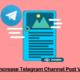 Increase Telegram Channel Post Views