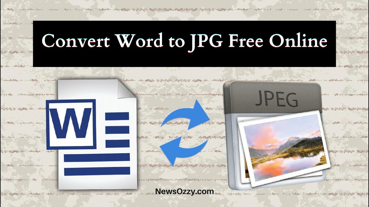 Convert Word to JPG Free Online