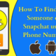 Find Add Someone on Snapchat using Phone Number
