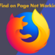 Firefox Find on Page Not Working Fixed
