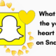 What does the yellow heart mean on snapchat