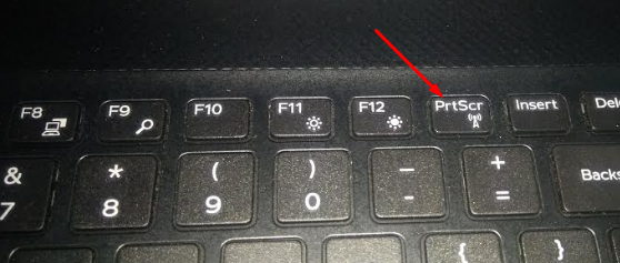 click on prtscr button on keyboard