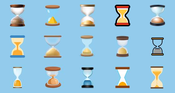 hourglass emojis