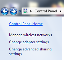 tap on manage wireless network option